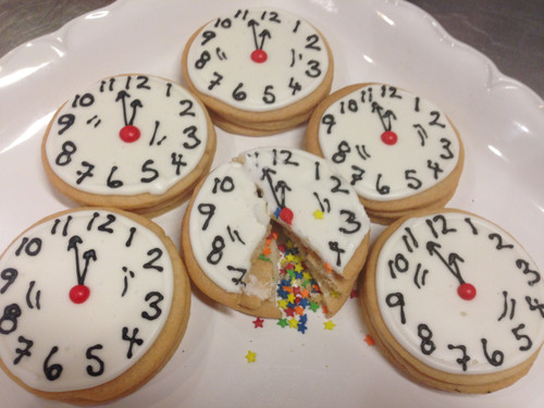 New Year's Eve Confetti Cookies