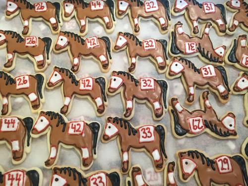 Kentucky Derby Horse Sugar Cookies