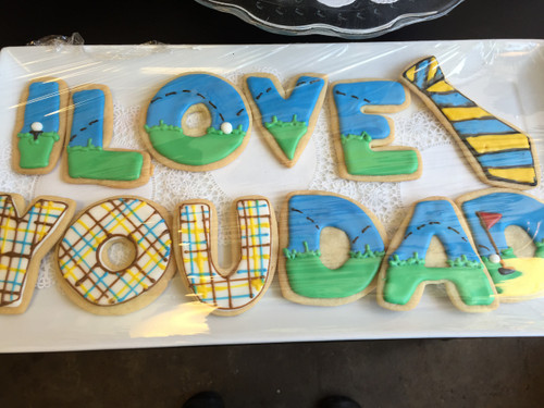 I LOVE YOU DAD! Sugar Cookies