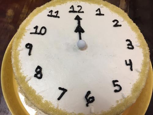 Clock Strikes Midnight Cake