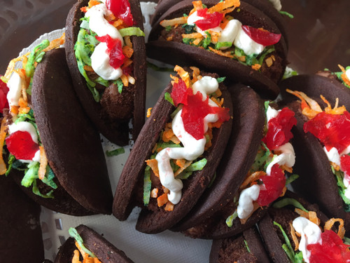 Chocolate Taco Cookies