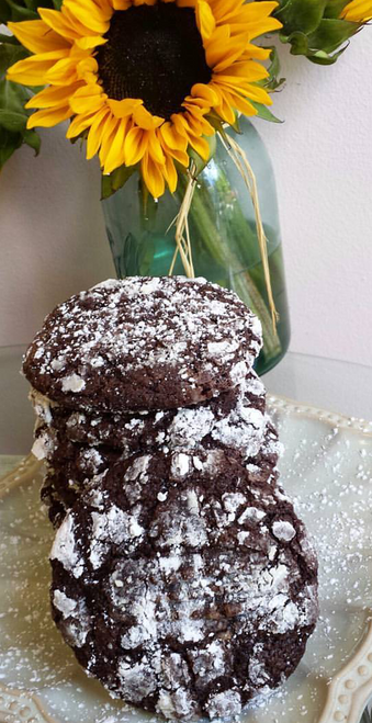 Gluten Free Chocolate Crackle Cookies