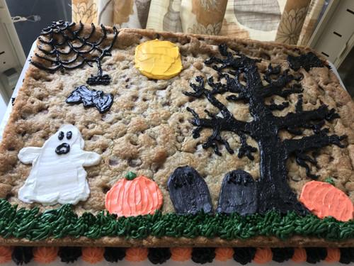Halloween Chocolate Chip Cookie Cake