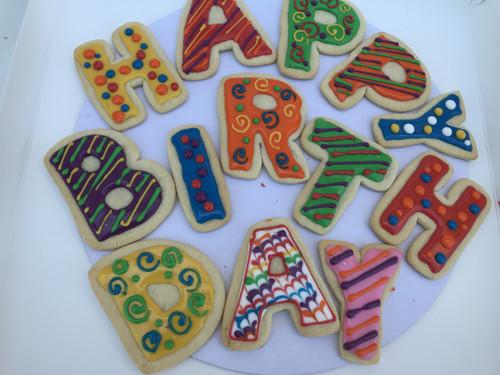 """HAPPY BIRTHDAY"" Sugar Cookies"