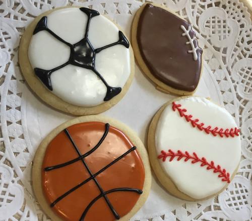 Sports Balls Sugar Cookies