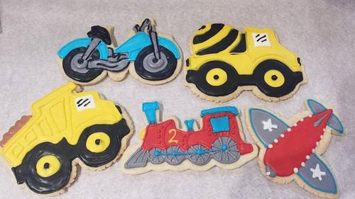 Transportation Sugar Cookies
