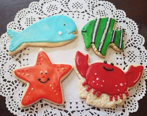 Ocean Creatures Sugar Cookies
