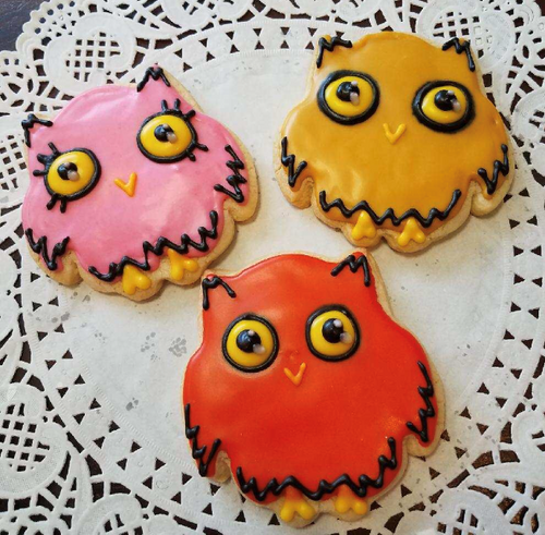 Owls! Sugar Cookies