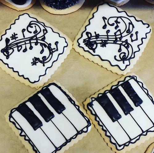 Music Theme Sugar Cookies