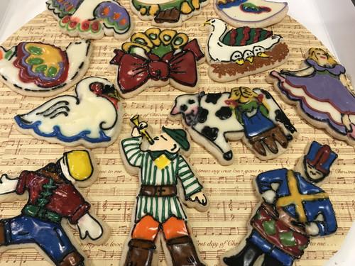 Twelve Days of Christmas Sugar Cookies