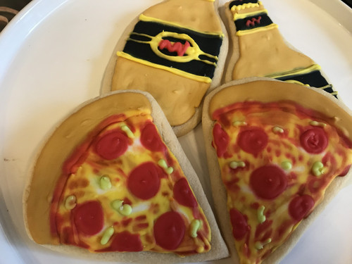 Pizza and Beer Sugar Cookies