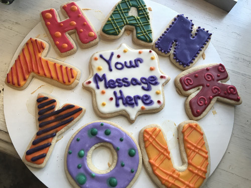 """Thank You"" Sugar Cookies"