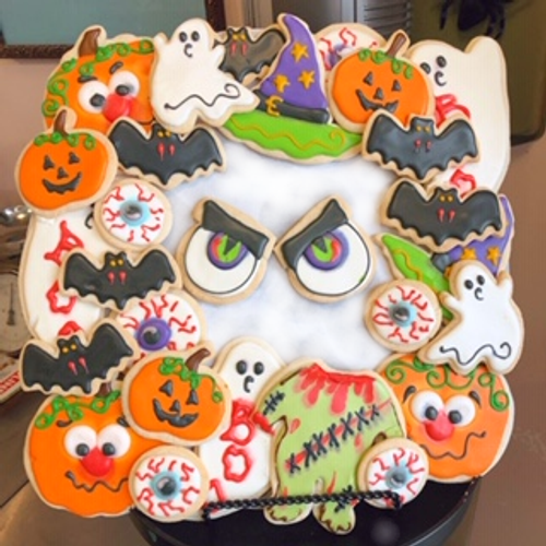 Halloween Sugar Cookie Wreath