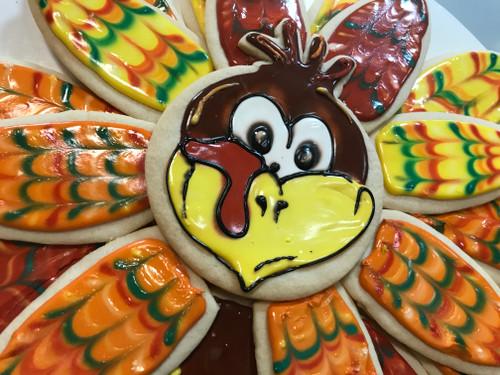 Turkey Sugar Cookie Centerpiece