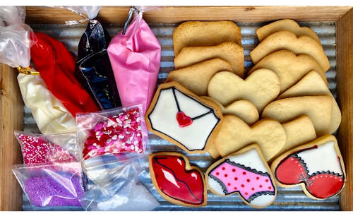 Valentine's Day Cookie Decorating Kit for Grown Ups