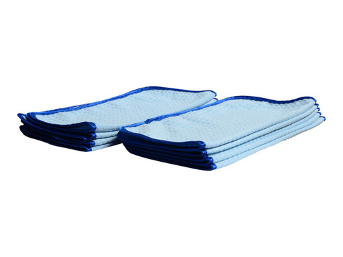 "Car Care Shoppe Microfiber Waffle Weave Glass Towel - Step 2 16""x16"" (10-pack) - carcareshoppe.com"