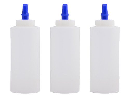 12oz. Squeeze bottle w/ Ribbon Applicator Spout - 3-Pack | Car Care Shoppe Canada