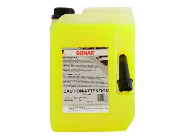 """SONAX Wheel Cleaner PLUS (5 Litres) """"RED MAX"""" - carcareshoppe.com"""