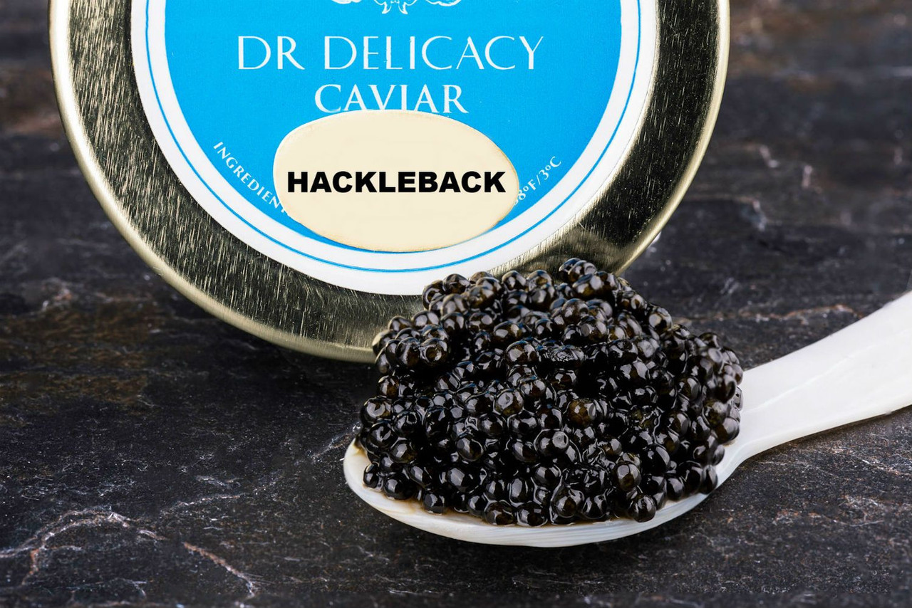 Hackleback Sturgeon caviar at DR Delicacy