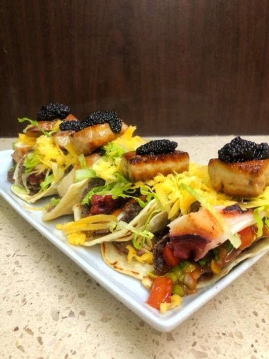 Octopus Challenge- Chef Alvin Shultz, Double Decker Foie Gras Taco
