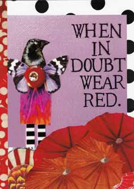 wear red greeting card, blank inside
