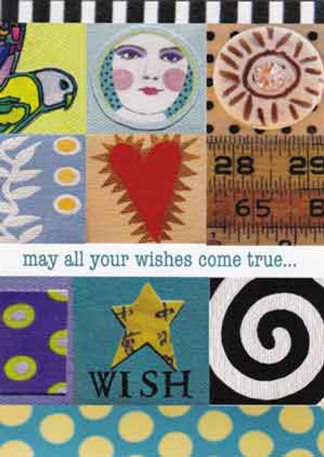 all your wishes greeting card, blank inside