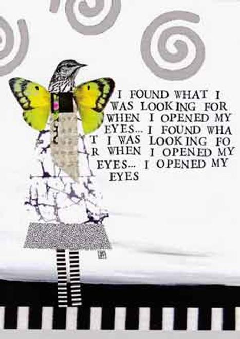 i opened my eyes greeting card, blank inside