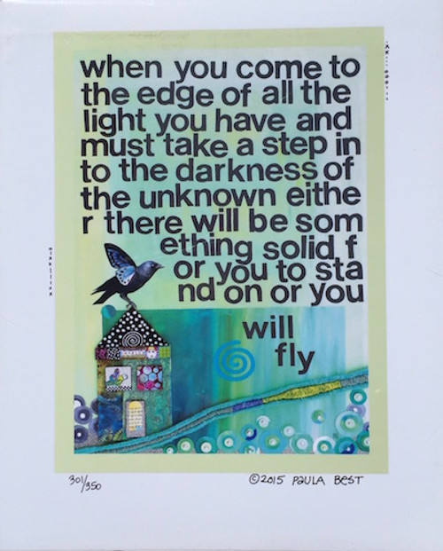 you will fly  8 x 10 inch print