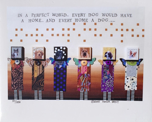 perfect world 6 dogs  8 x 10 inch print