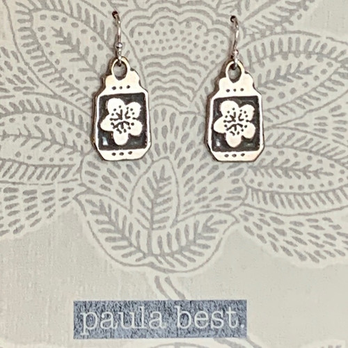 paula best white bronze cherry blossoms earrings