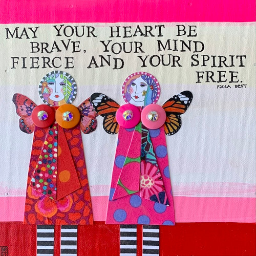 May your heart be brave 8 x 8 canvas