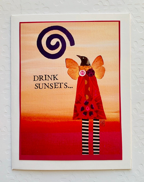 Notecard Drink Sunsets