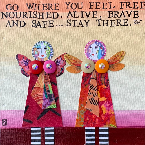 Stay there   8 x 8 canvas