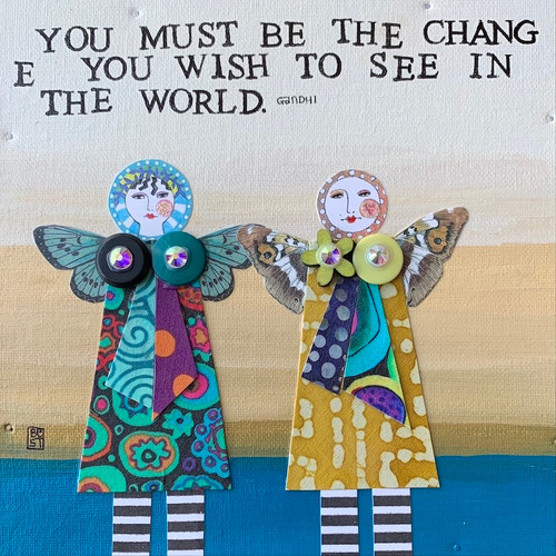 Be the change   8 x 8 canvas
