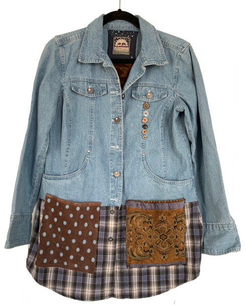 Light Denim Jacket with Sparkle Buttons front
