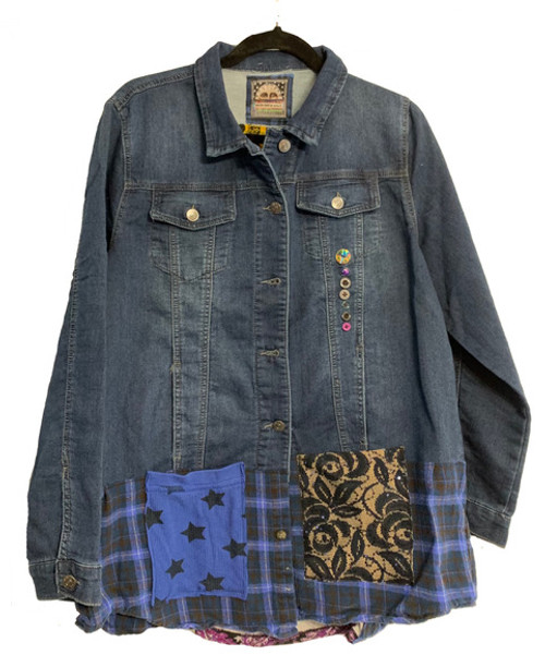 Skulls denim Jacket front