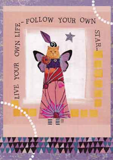 follow your own star greeting card, blank inside