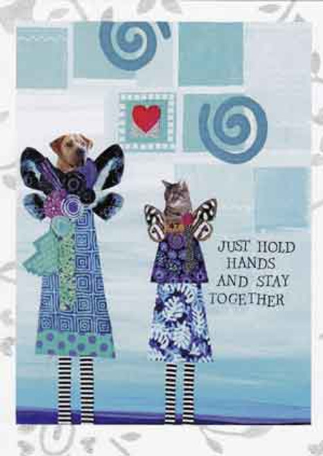 just hold hands greeting card, blank inside