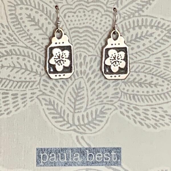 paula best white bronze cherry blossoms earrings