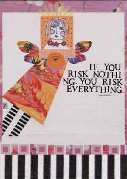 risk greeting card, blank inside