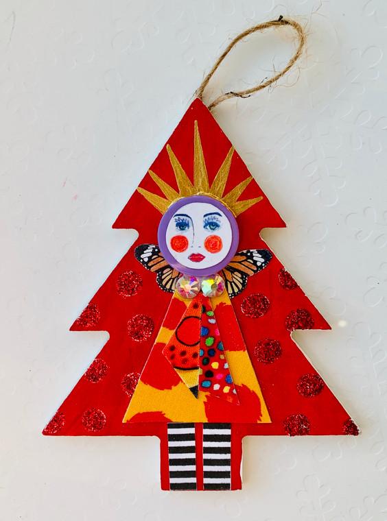 tree ornament face 7