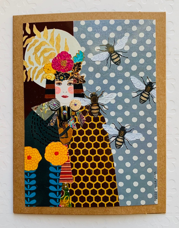 Notecard Bee Woman
