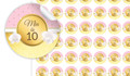 Pink & Gold Personalised 25mm Labels