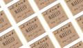 Eat, Drink And Be Married Kraft Personalised Wedding Mini Chocolates