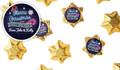 Neon Personalised Christmas Chocolate Stars