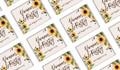 Rustic Sunflower Wedding Personalised Mini Chocolates