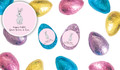 Watercolour Bunny Personalised Chocolate Half Easter Eggs