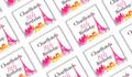 Paris Watercolour Personalised Mini Chocolates - Australia's #1 Kids Party Supplies