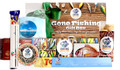 Actual contents of Gone Fishing Gift Box Personalised Hamper Care Pack