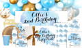A Splash Of Watercolour Blue Personalised Party Pack